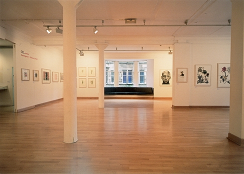 Photograph: The exhibition 'Prisms & Shadows' in Glasgow Print Studio Gallery (2005)
